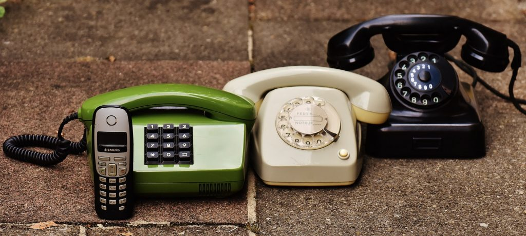 4 generations of phones rotary to cell